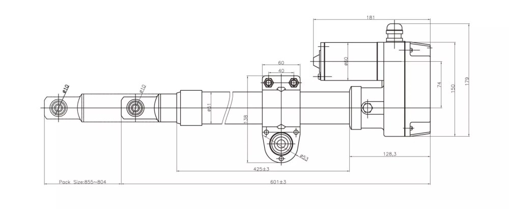 medium resolution of satellite dish actuator heavy duty type outline drawing