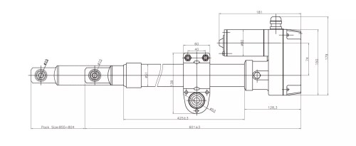 small resolution of satellite dish actuator heavy duty type outline drawing