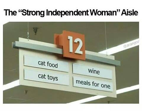Independent cat lady