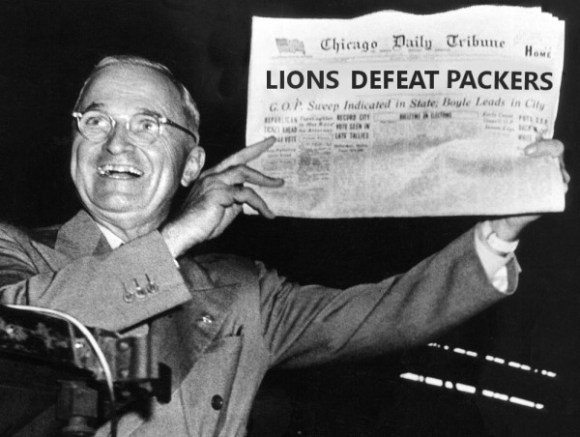 Lions Defeat packers