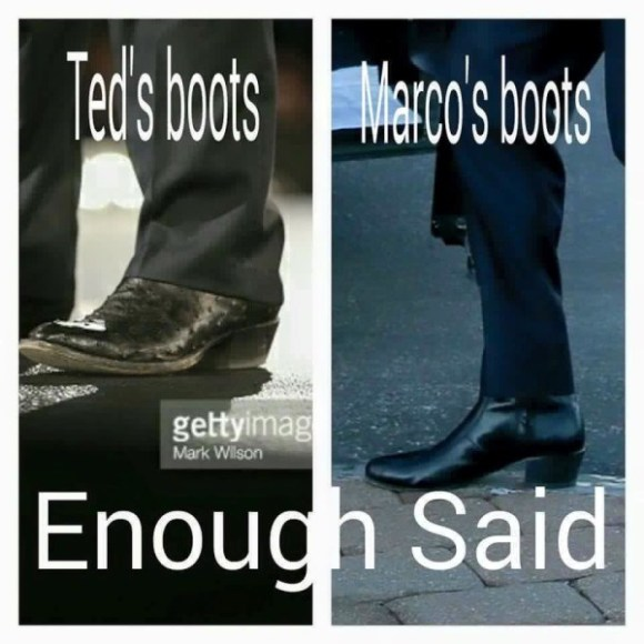 Ted vs Marco boots