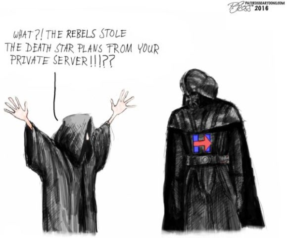Hillary Death Star plans copy