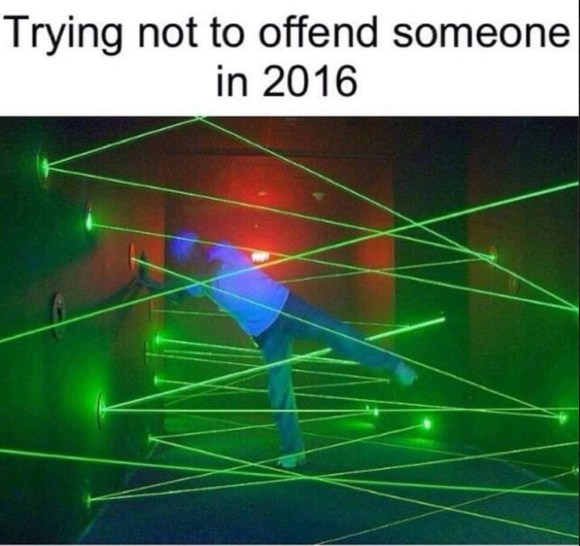 Try not to offend copy