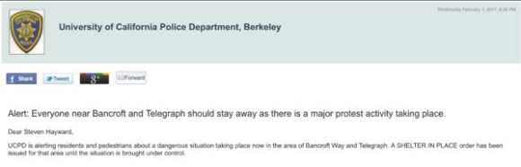 Berkeley notice