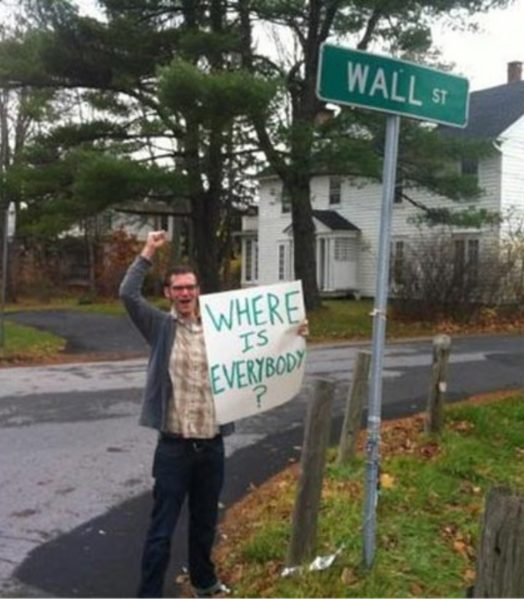 Wall Street Protester