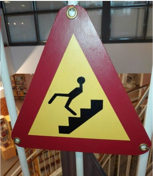 At the Ministry of Silly Walks perhaps?