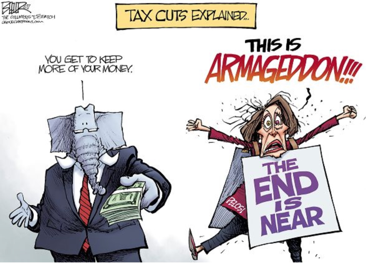 Image result for tax plan hysteria cartoon