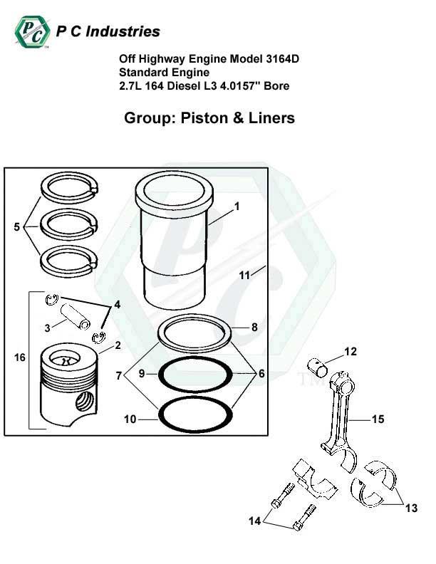 Off Highway Engine Model 3164d Standard Engine 2.7l 164