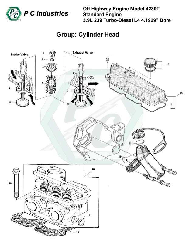 Off Highway Engine Model 4239t Standard Engine 3.9l 239