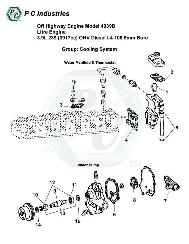 Off Highway Engine Model 4039d Litre Engine 3.9l 239