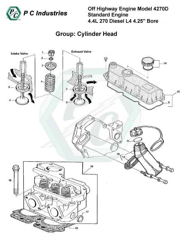 Off Highway Engine Model 4270d Standard Engine 4.4l 270