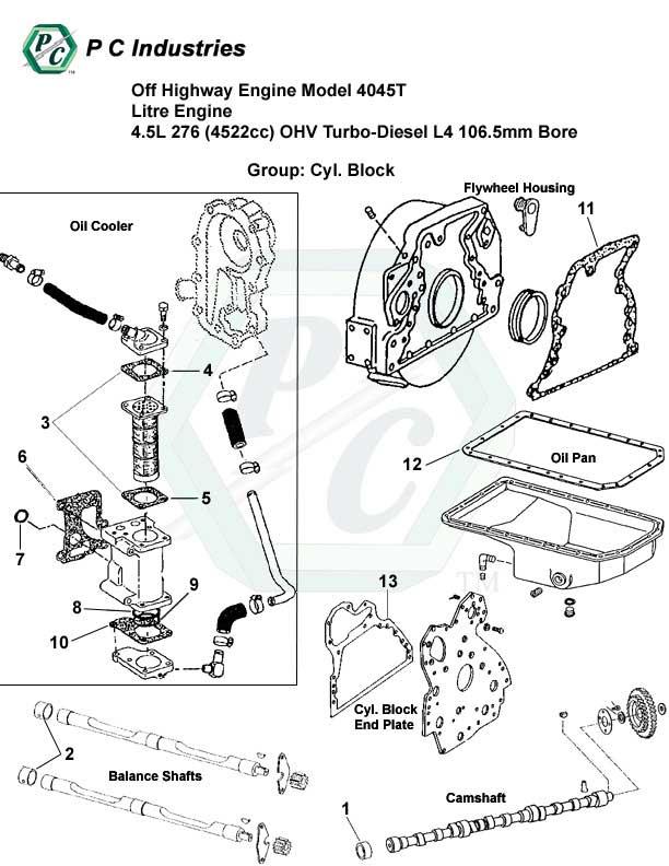 Off Highway Engine Model 4045t Litre Engine 4.5l 276