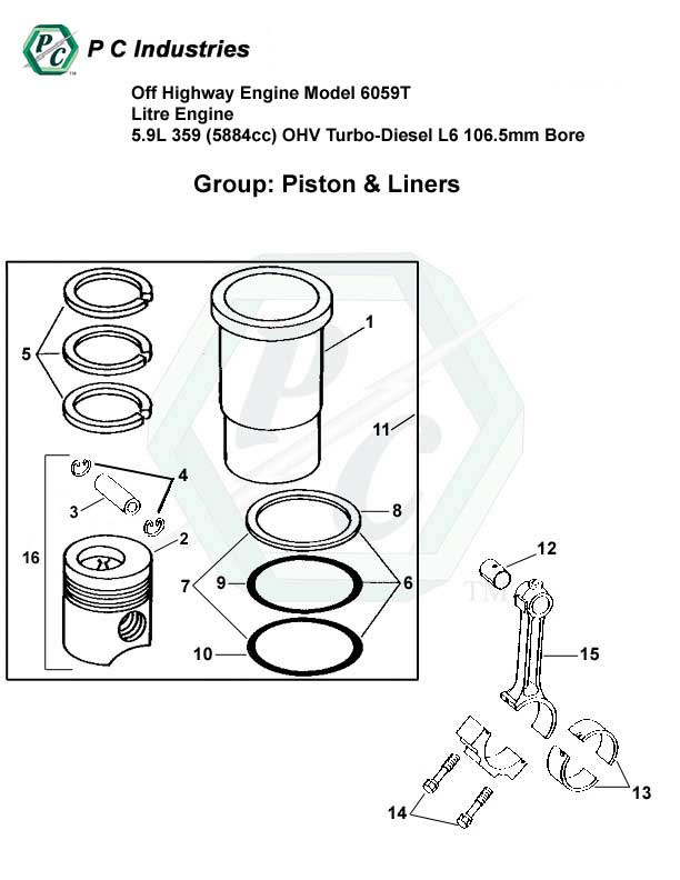Off Highway Engine Model 6059t Litre Engine 5.9l 359