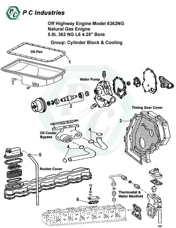 Off Highway Engine Model 6362ng Natural Gas Engine 5.9l
