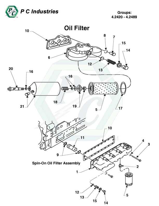 spin on fuel filters for 8v 71 detroit