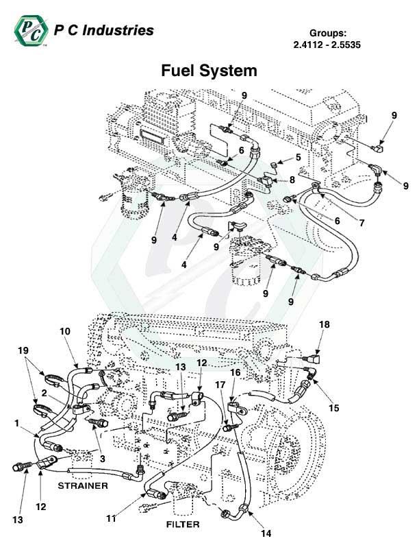 diesel fuel system schematic diagram