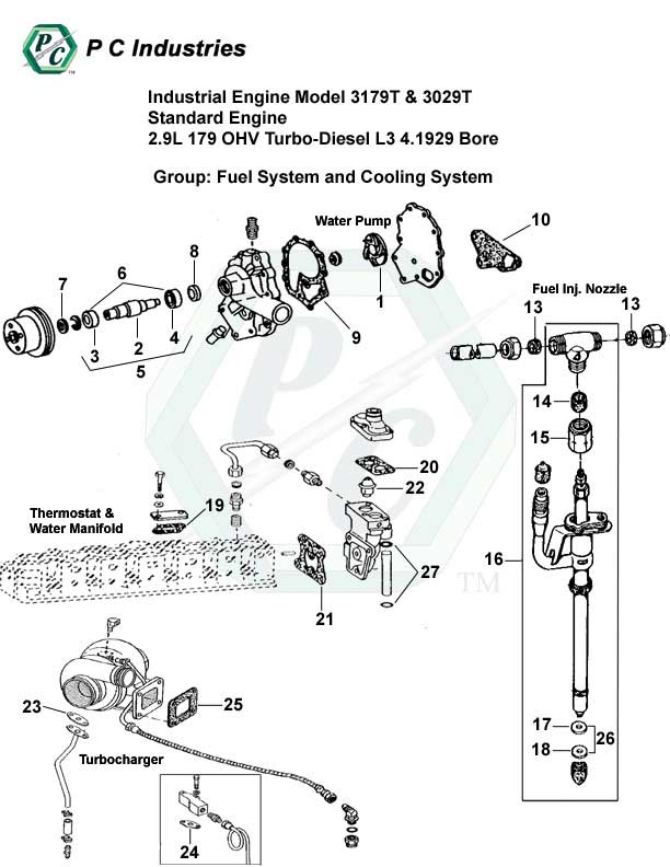 3406b Cat Turbo Engine Diagram 3406B Engine Parts