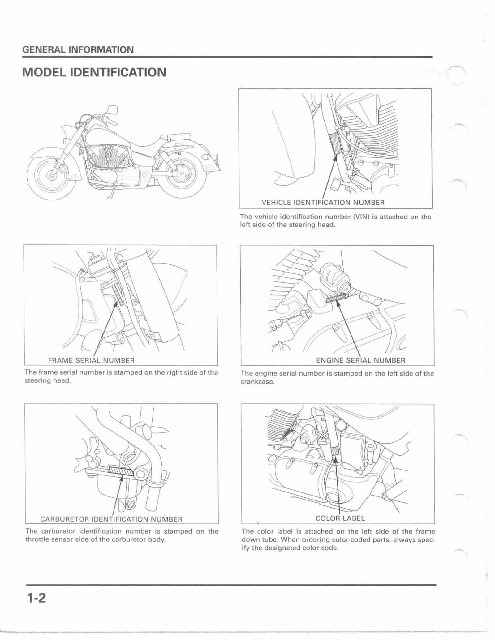 Honda VTX1300R VTX1300S Service Manual Free Download