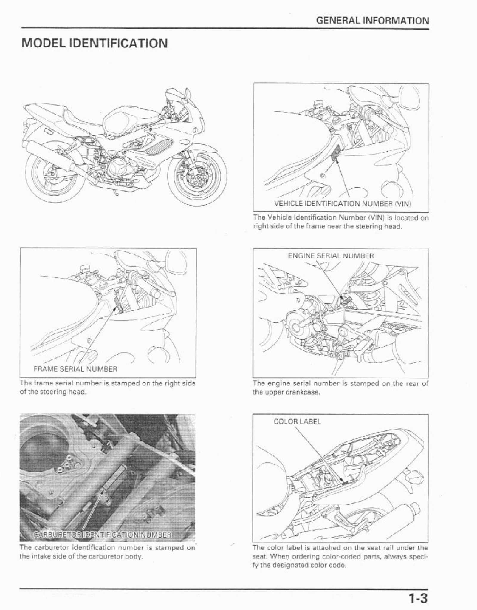 Honda VTR1000F 98-03 Service Manual Free Download
