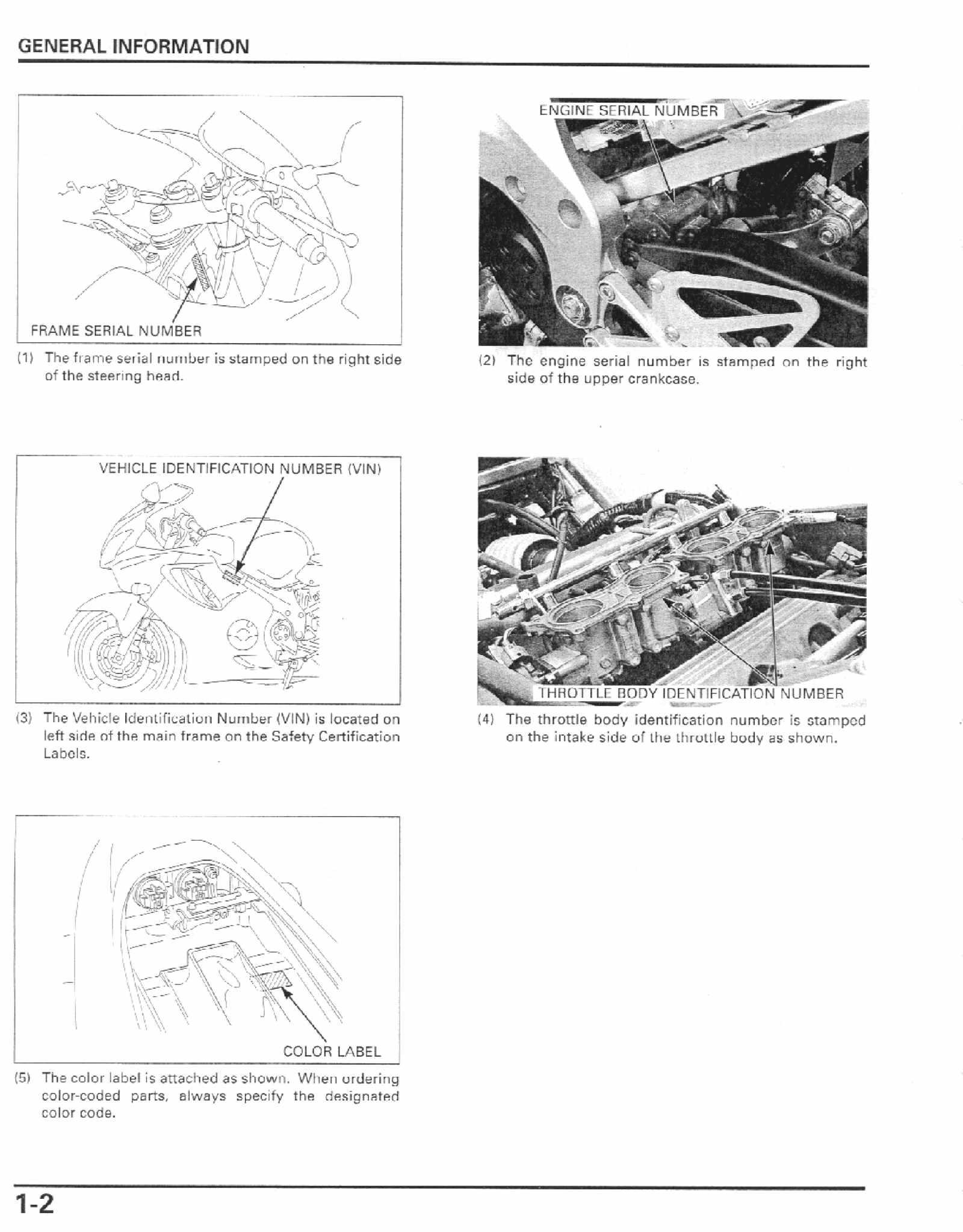 Honda CBR600 F4i 01-03 Service Manual Free Download