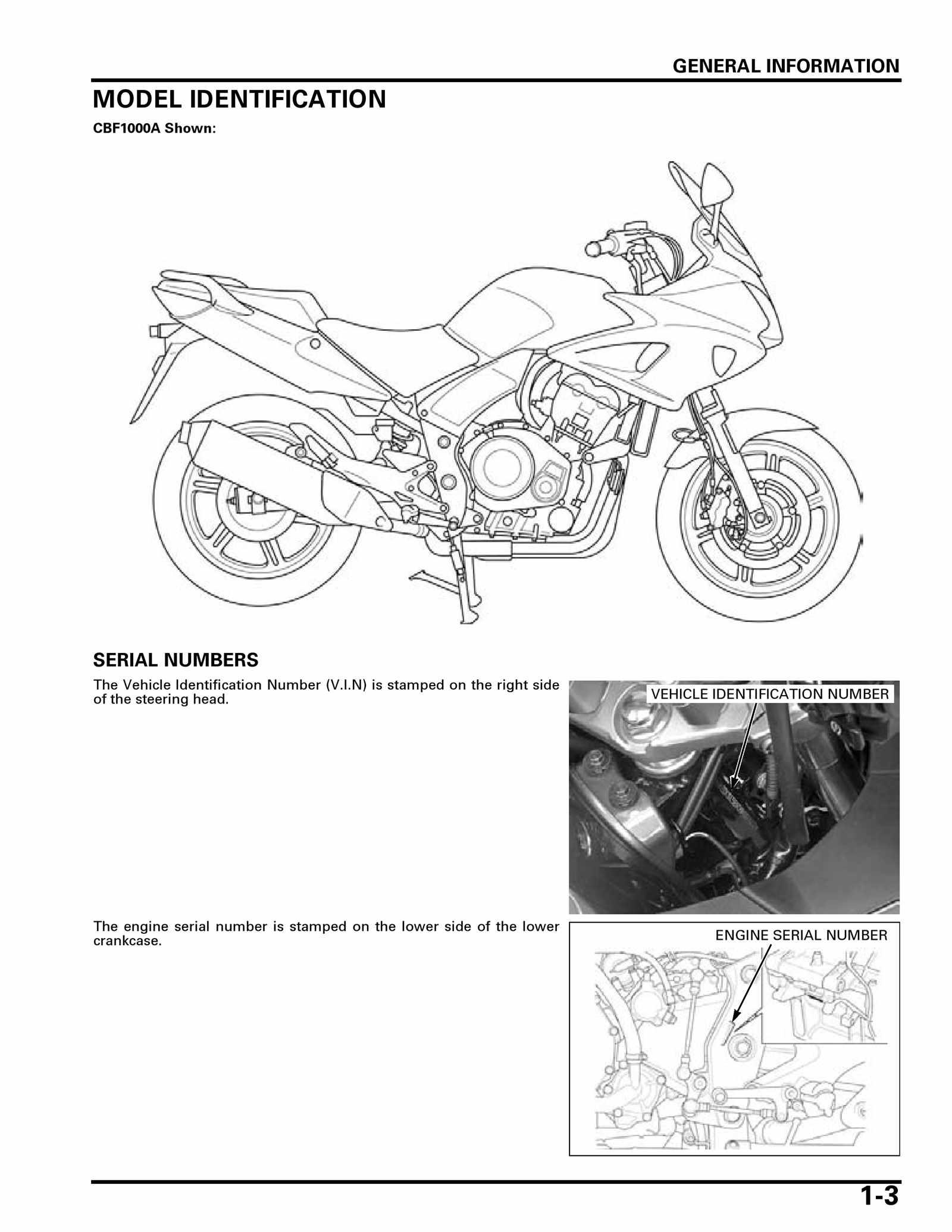Honda CBF1000 A 2006-2008 Service Manual Free Download