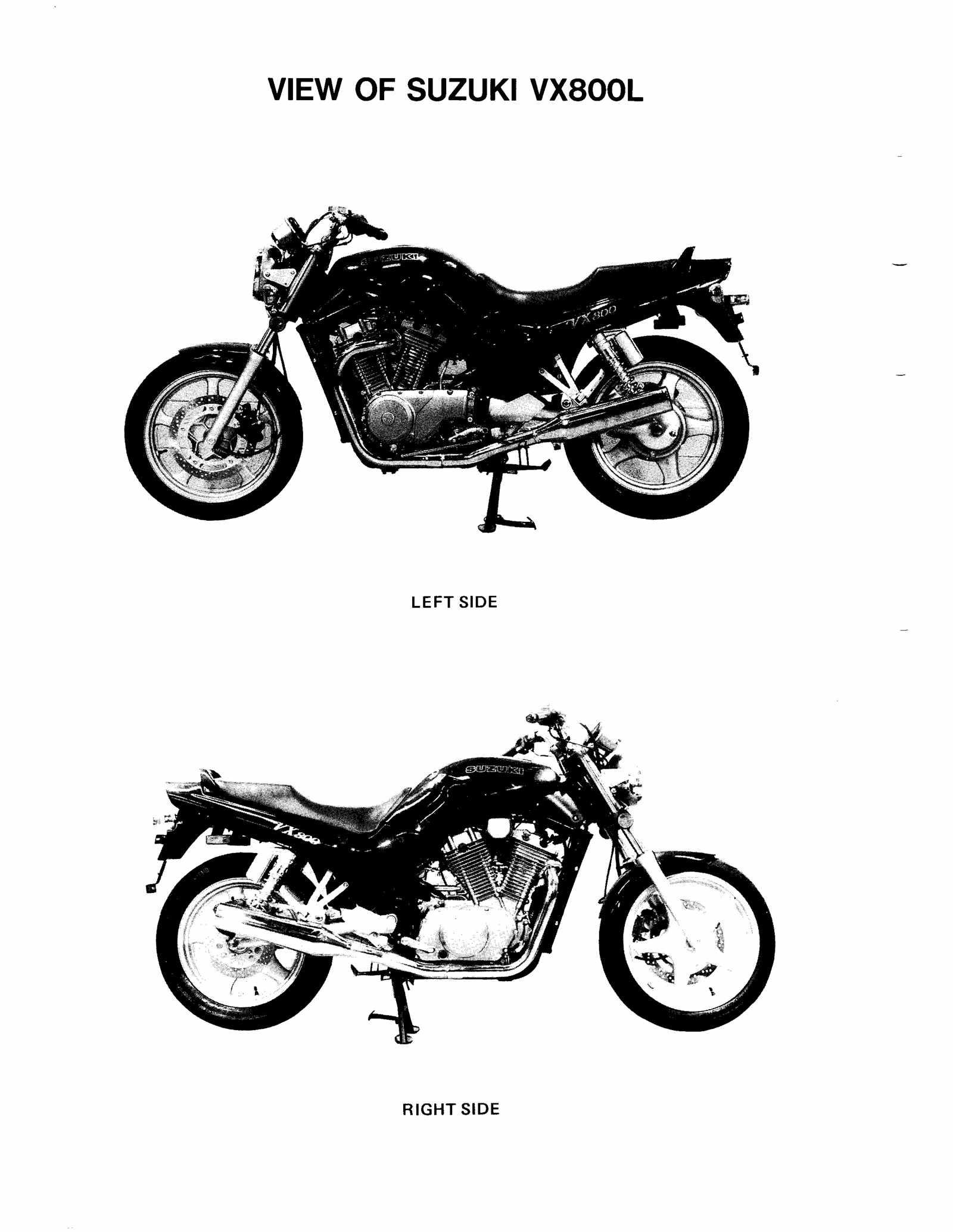 Suzuki VX800 L M N P 90-93 Service Manual Free Download