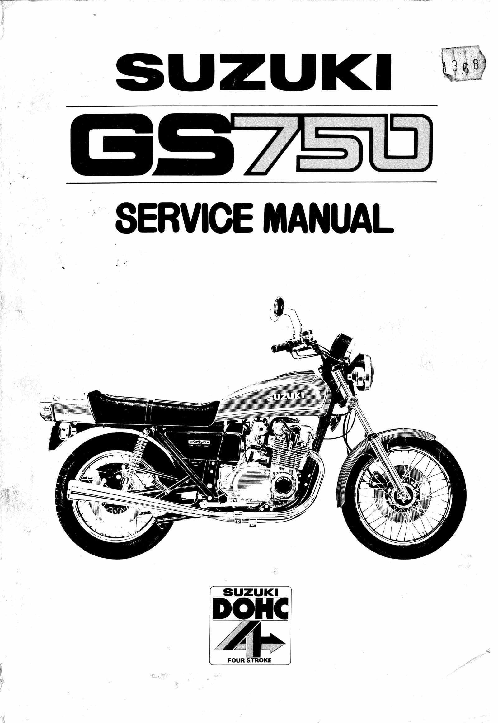 Suzuki GS750 GS750E Service Manual Free Download