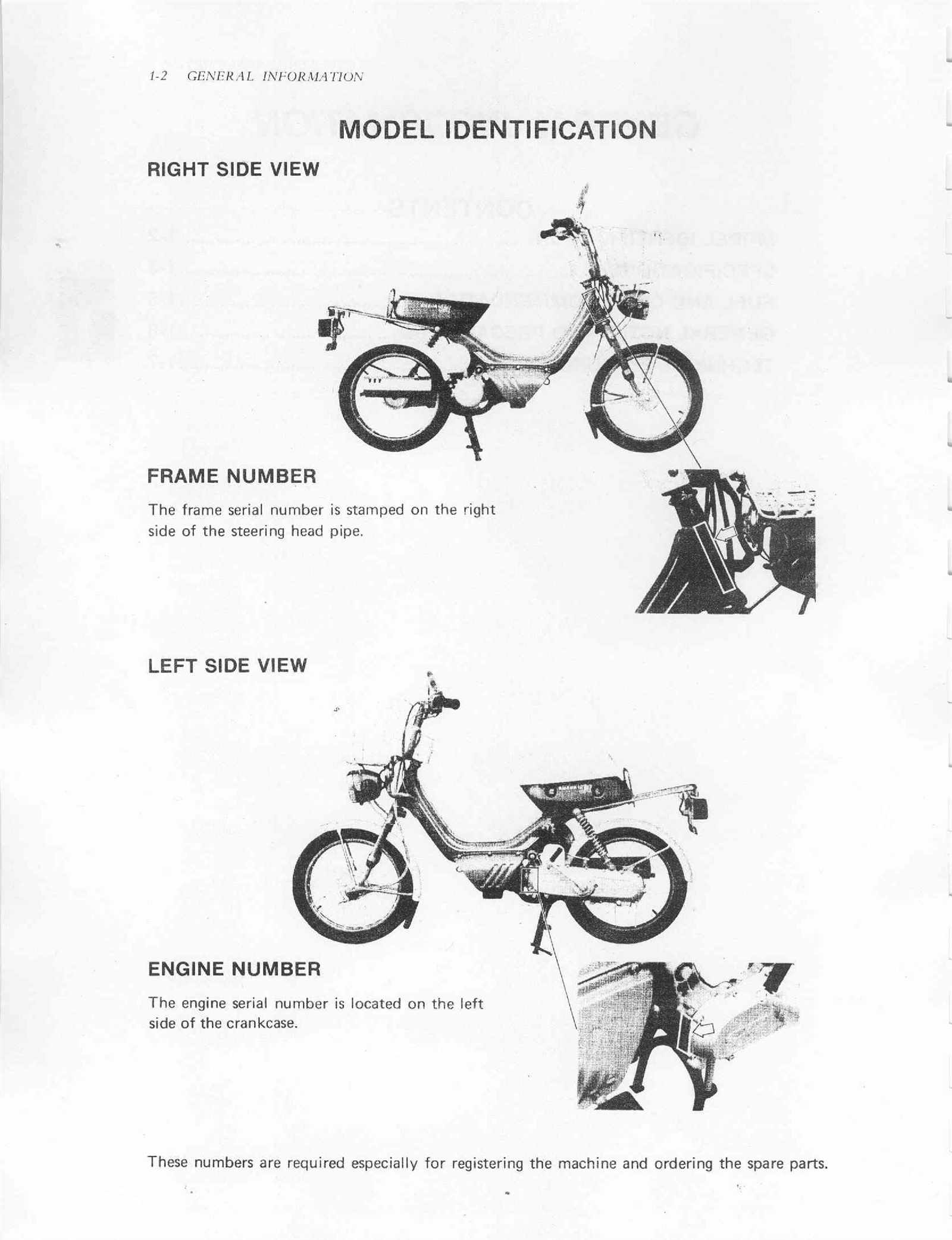 Suzuki FA50 1980 Service Manual Free Download