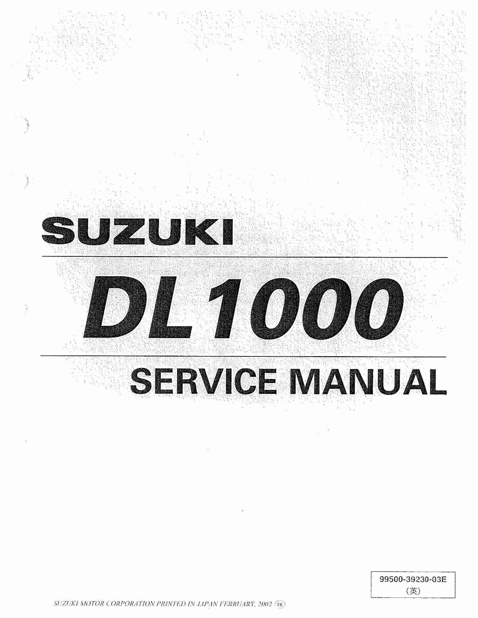 Suzuki DL1000 K2 Service Manual Free Download