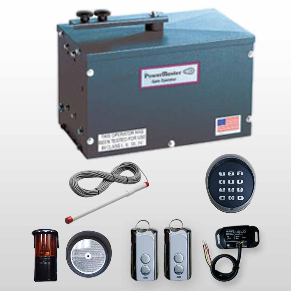 hight resolution of powermaster rsw 2000 residential swing gate operators kit 4 include