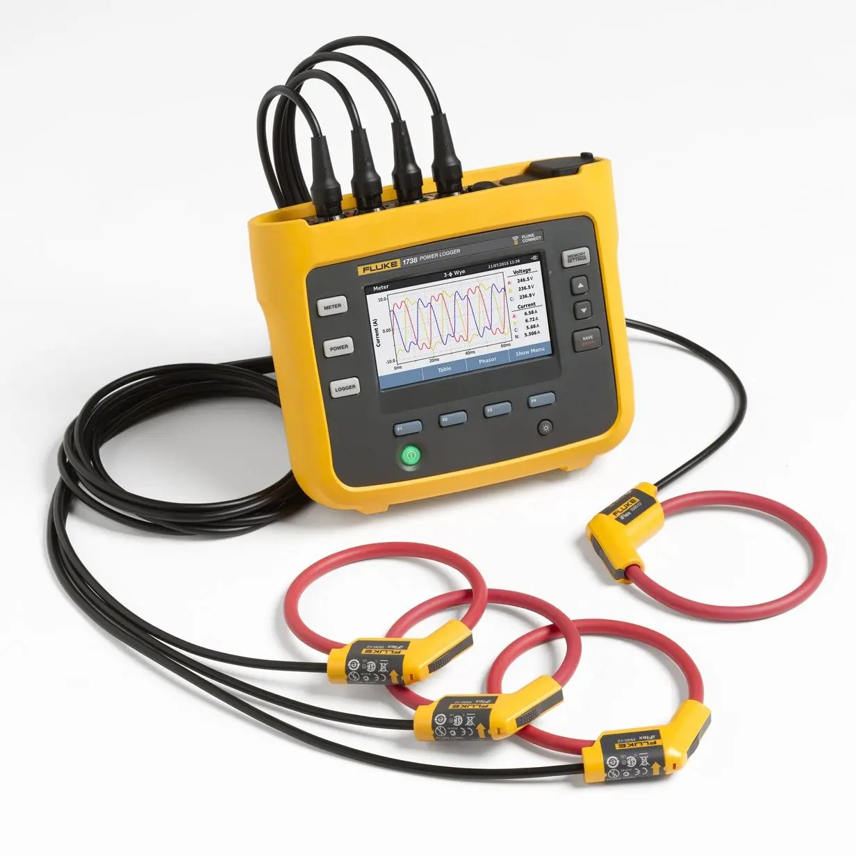 hight resolution of fluke 1738 three phase power logger