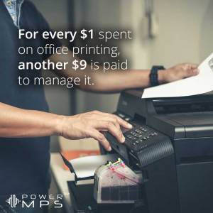 The cost of managing office printing