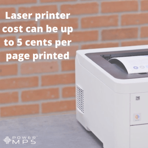 How much does a printer cost per page printed