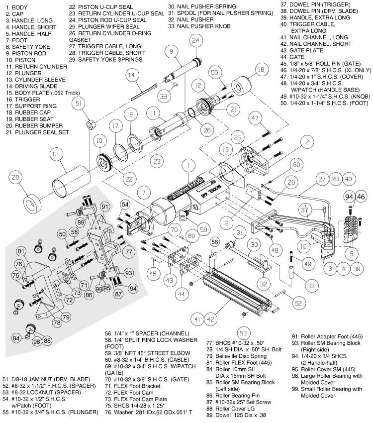 445 Parts & Schematic