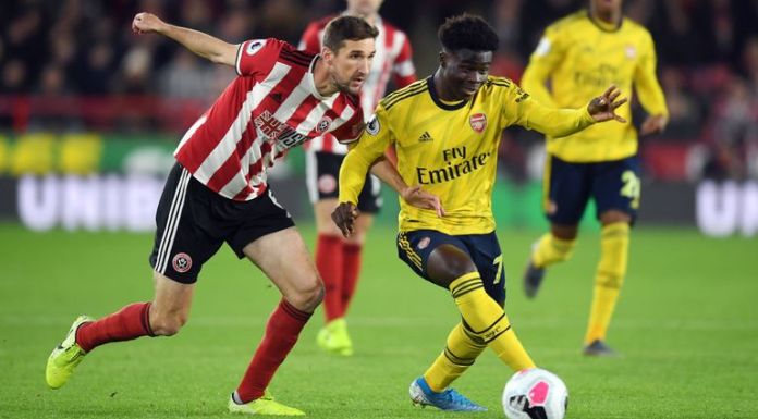 Bukayo Saka featured at Bramall Lane and could face the Blades again in the left-back role with Sead Kolasinac doubtful