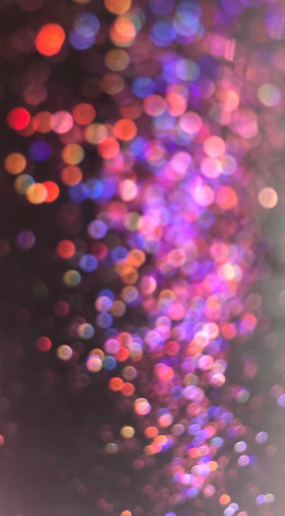 Pink, lilafarbene Glitzer Teile