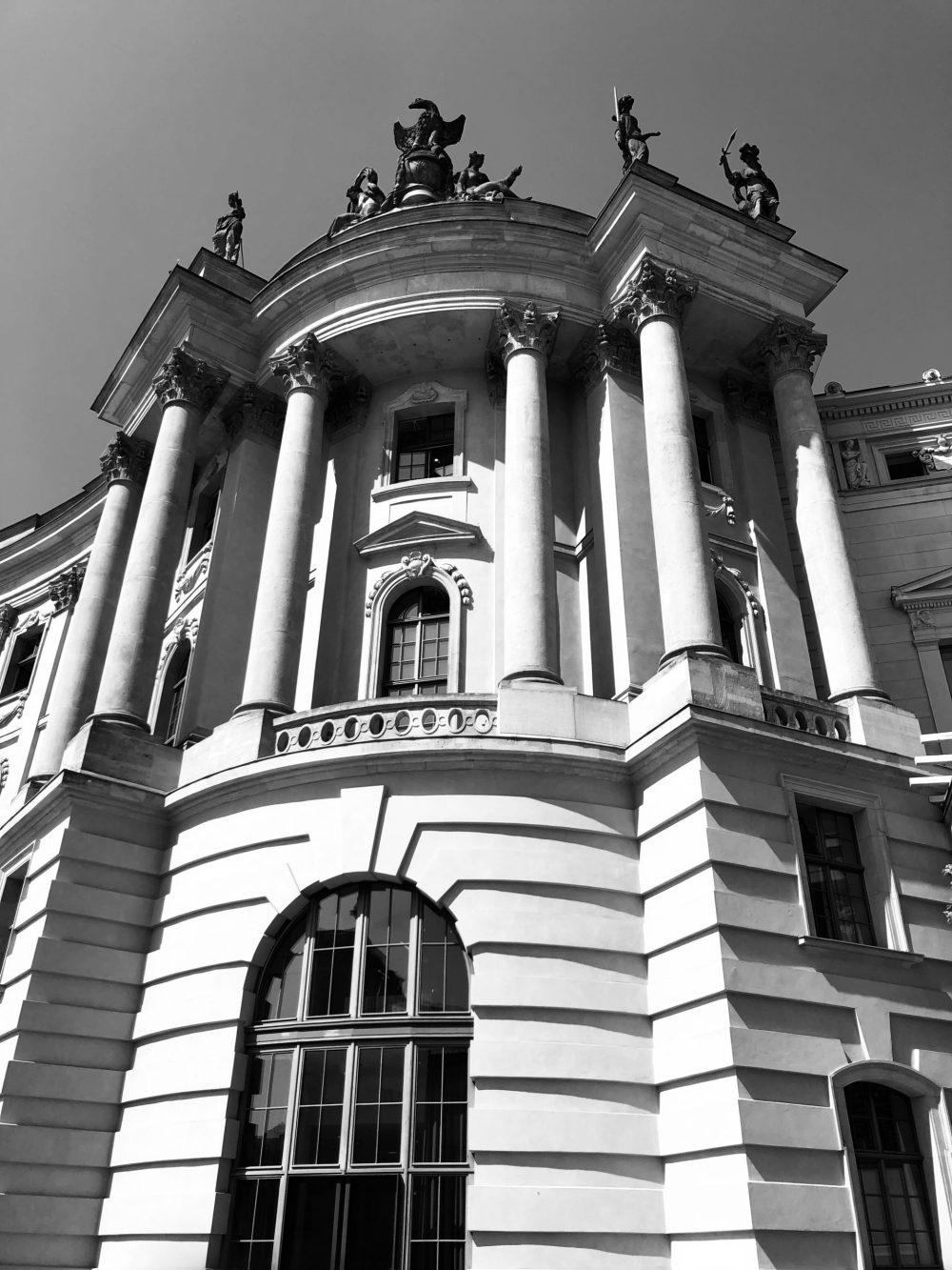 Ausschnitt der Juristischen Fakultät Humboldt, in Berlin