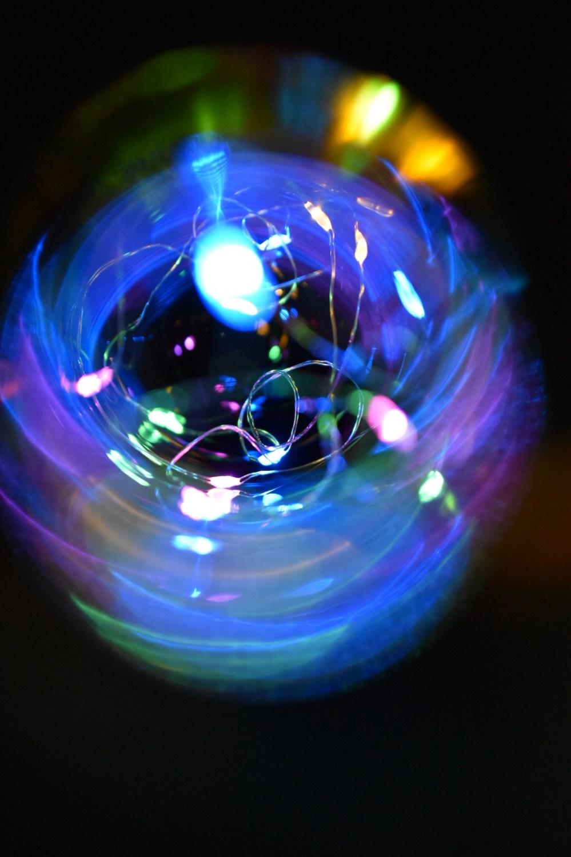 Bunte Lichteffekte mit Lichterkette