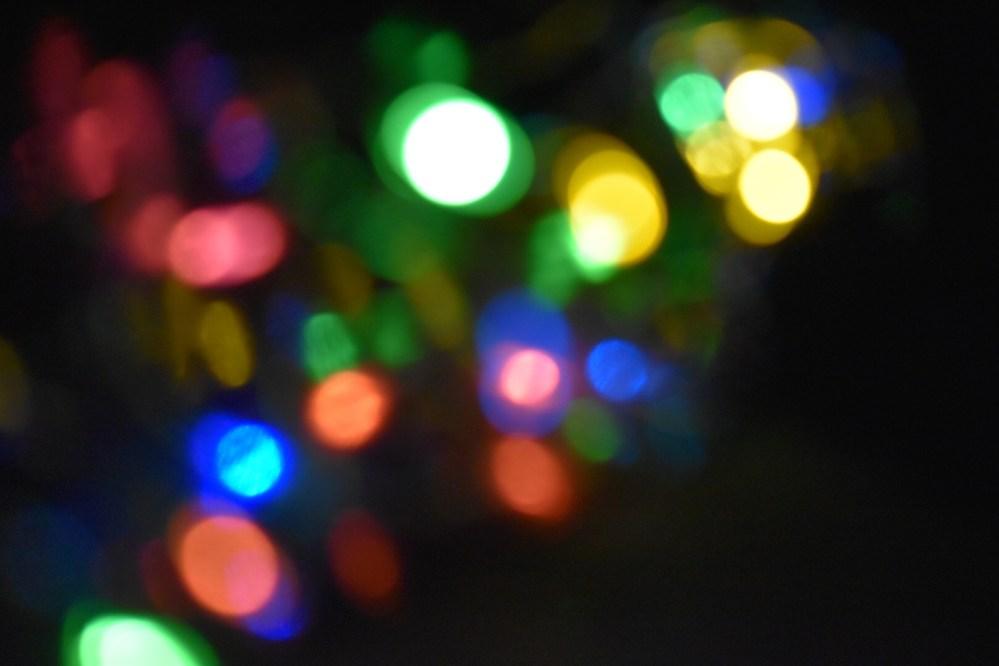Viele bunte Lichtpunkte