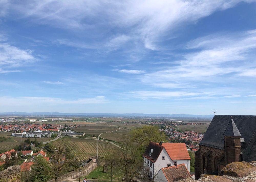 Ausblick von der Burg Richtung Ludwigshafen