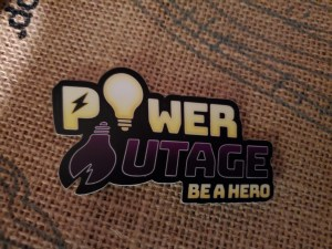 Power Outage Logo Stickers