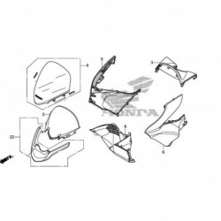 Element sous Bulle Honda PCX 64305-KWN-900