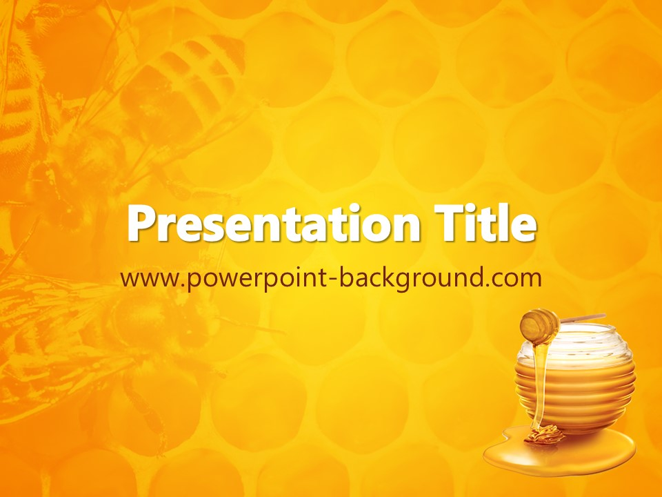 Honey Powerpoint Background Powerpoint Background