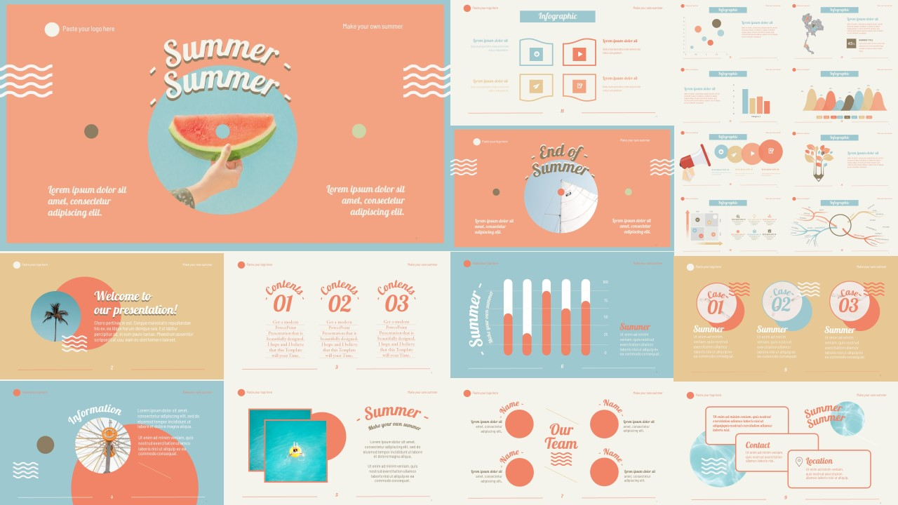 summer template-thumnail - Powerpoint Hub