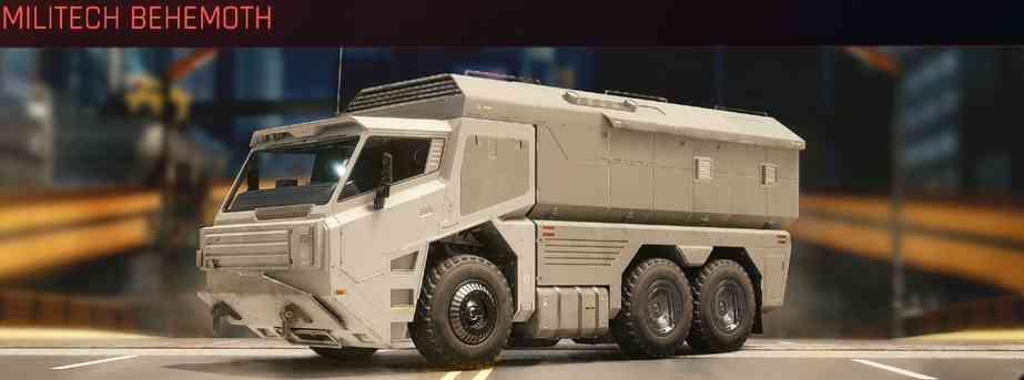 Cyberpunk 2077 Vehicle Guide cyberpunk 2077 militech behemoth