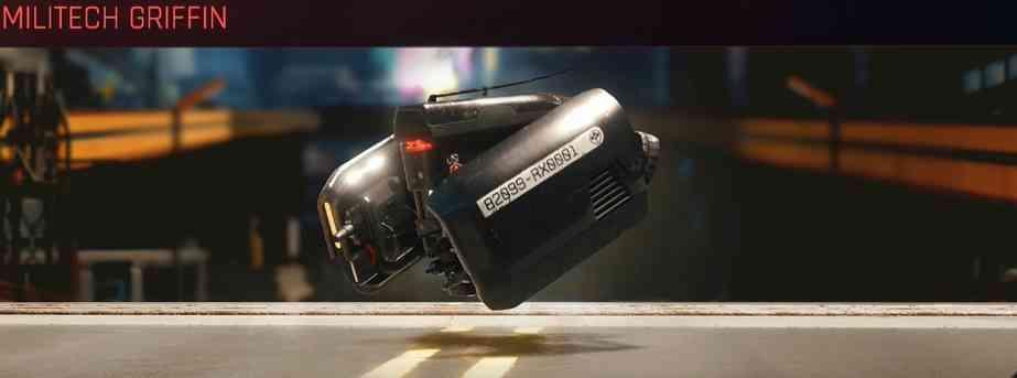 Cyberpunk 2077 Vehicle Guide cyberpunk 2077 militech griffin