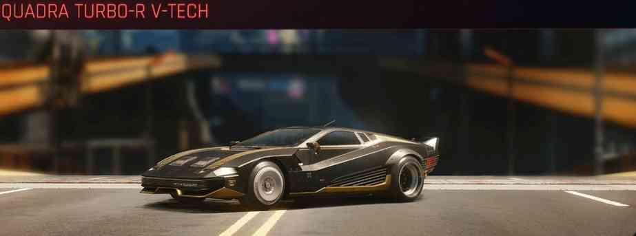 Cyberpunk 2077 Vehicle Guide cyberpunk 2077 quadra turbo r v tech