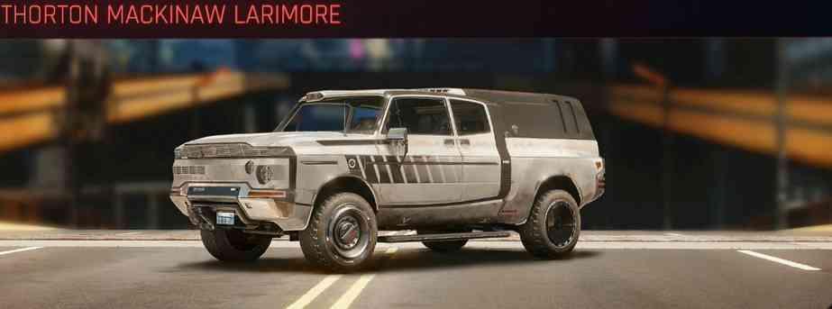 Cyberpunk 2077 Vehicle Guide cyberpunk 2077 thorton mackinaw larimore