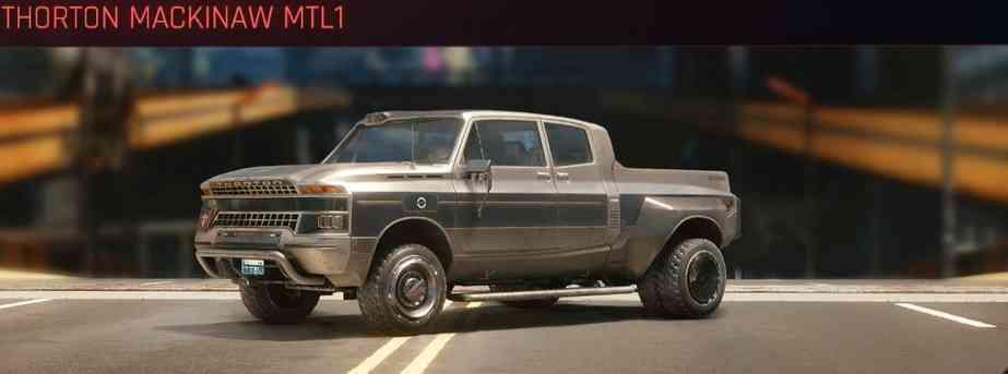 Cyberpunk 2077 Vehicle Guide cyberpunk 2077 thorton mackinaw mtl1