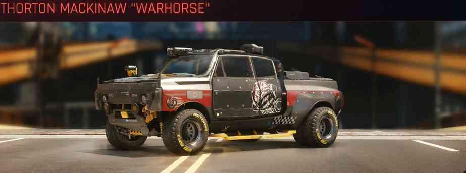Cyberpunk 2077 Vehicle Guide cyberpunk 2077 thorton mackinaw warhorse